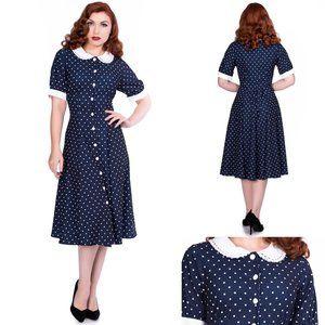 Timeless London Raina Navy & White Dress